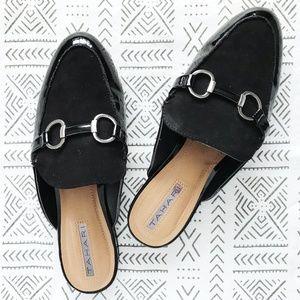 79255e6a3b6 Tahari Frenchie Black Slip-On Mule Loafer 7.5M